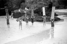 Surfers, Cornwall c1920