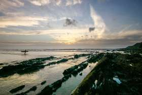 Evening Light, Low Tide Saunton