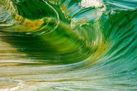 Iridescent, Warped Shore Break, Porthcurno