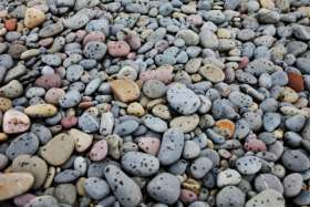 Rain Spotted Pebbles