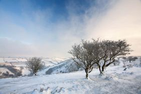Snow on Winsford Hill, Exmoor