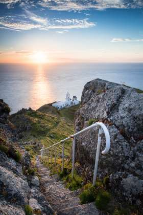 North Light Sunset, Lundy