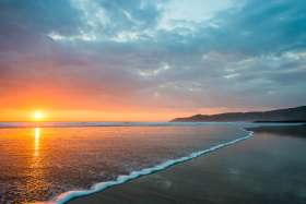 Morte Point Sunset