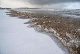 Beach Snow Melt
