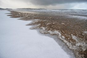 Beach Snow Melt