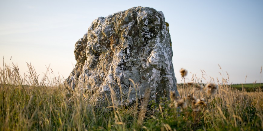 Black cloud standing stone close s