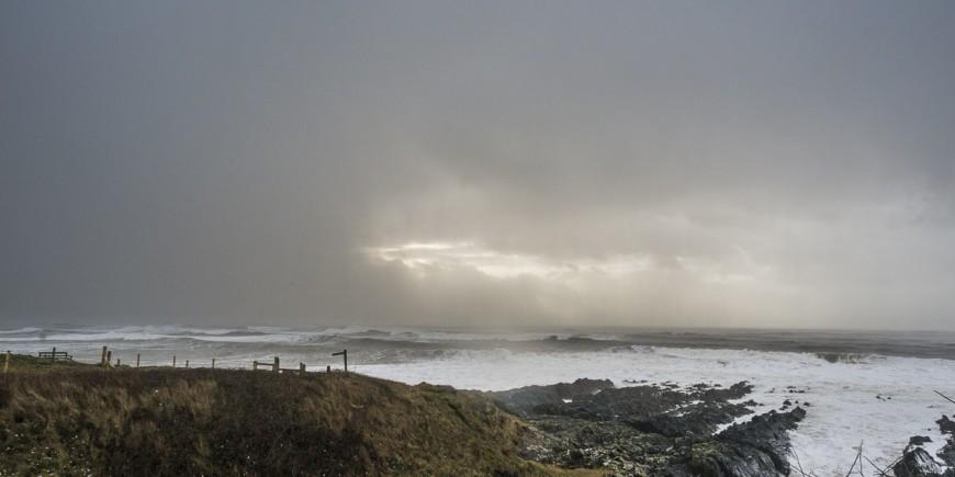 wild woolacombe stormy sea